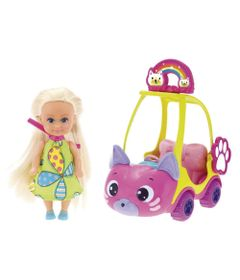 Mini-Boneca---Sparkle-Girlz---Mini-Carro-Sparkles-Gatinho-Rosa---DTC