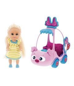 Mini-Boneca---Sparkle-Girlz---Mini-Carro-Sparkles-Porquinho-Rosa---DTC
