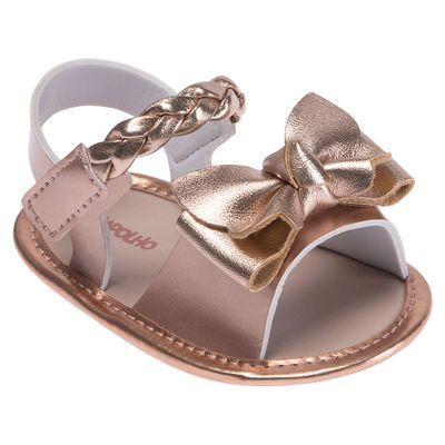 Sandalia-para-Bebes---Cabedal-Metalizada---Laco---Cobre---Pimpolho