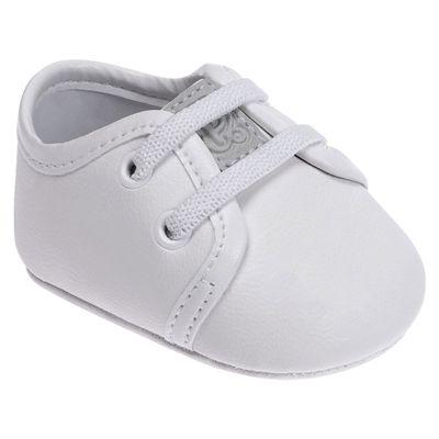 Sapato-para-Bebes---Batizado---Courinho-Basico---Branco---Pimpolho