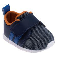 Tenis-para-Bebes---Esportivo---Fake-Jeans---Azul-Marinho---Pimpolho