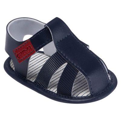 Sandalia-Para-Bebes---Classica-Courinho---Azul-Marinho---Pimpolho