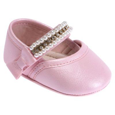 f73794abce Sapatilha Para Bebês - Bailarina - Courinho e Strass - Rosa - Pimpolho
