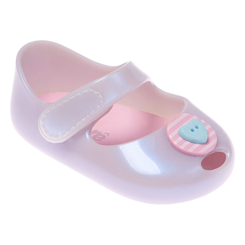 Sapatilha Para Bebês - Furtacor - Botão e Coração - Pimpolho