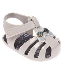 Sandalia-Para-Bebes---Colore---Game---Cinza---Pimpolho