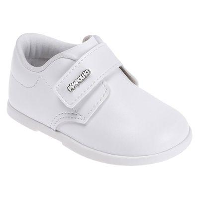 Sapato-Para-Bebes---Batizado---Courinho-e-Velcro---Branco---Pimpolho