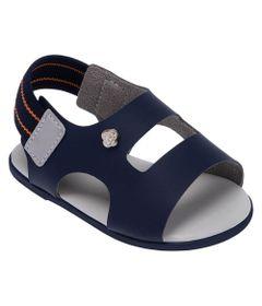 Sandalia-Para-Bebes---Courinho-e-Elastico---Azul-Marinho---Pimpolho