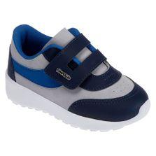 Tenis-Para-Bebes---Esportivo---Recortes---Azul-e-Branco---Pimpolho