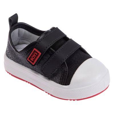 Tenis-Para-Bebes---Courinho-e-Velcro---Cinza-Escuro---Pimpolho