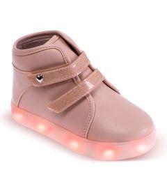 Tenis-Para-Bebes---Cano-Alto-Gliter-e-Solado-LED---Nude---Pimpolho