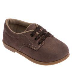 Sapato-para-Bebes---Camurca-e-Sola-de-Borracha---Marrom---Pimpolho