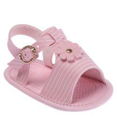 Sandalia-Para-Bebes---Courinho---Listras-e-Flor---Rosa---Pimpolho
