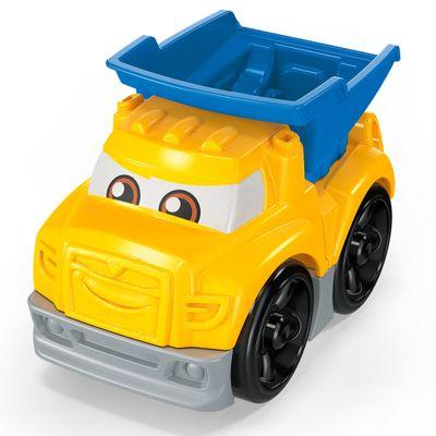 Blocos-de-Montar---Mega-Bloks---Primeiros-Carrinhos-de-Competicao---Azul-e-Amarelo---Mattel