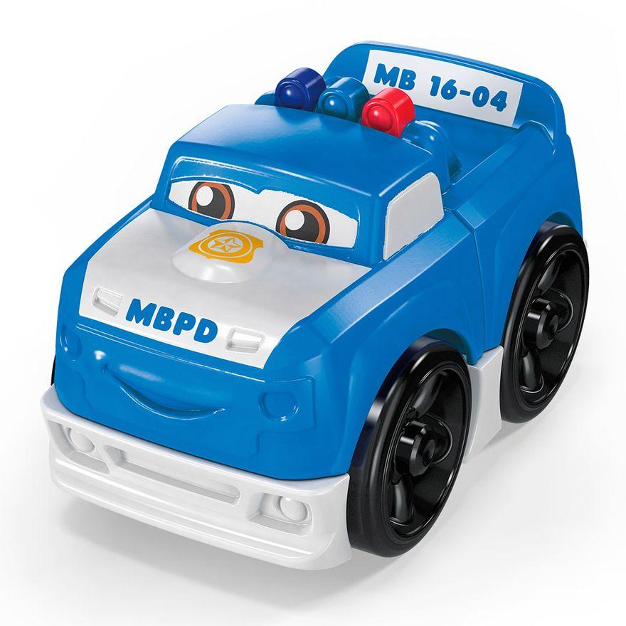 Blocos-de-Montar---Mega-Bloks---Primeiros-Carrinhos-de-Competicao---Azul---Mattel