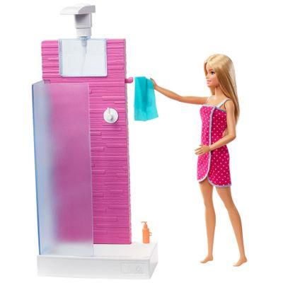 Boneca-Barbie---Barbie-com-Moveis-e-Acessorios---Barbie-no-Banheiro---Mattel