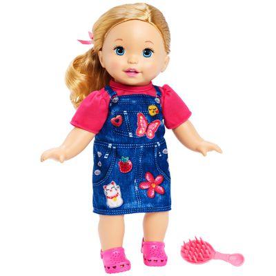 Boneca Bebe Little Mommy Doce Bebe VestidoJeans Mattel