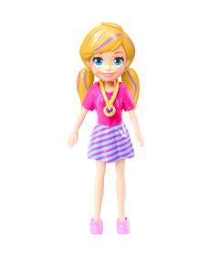 Boneca-e-Acessorios---Polly-Pocket---Polly-Happy-Hour---Loira-com-Saia-Listrada---Mattel