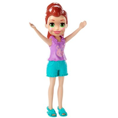 Boneca-e-Acessorios---Polly-Pocket---Polly-Happy-Hour---Morena-com-Camisa-LIlas---Mattel