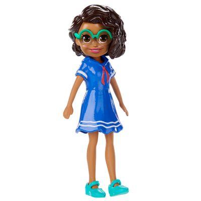 Boneca-e-Acessorios---Polly-Pocket---Polly-Happy-Hour---Negra-com-Vestido-Azul---Mattel