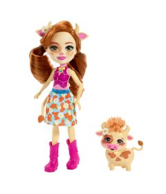 Boneca-Fashion-e-Animal---Enchantimals---Cailey-e-Curdle---Mattel
