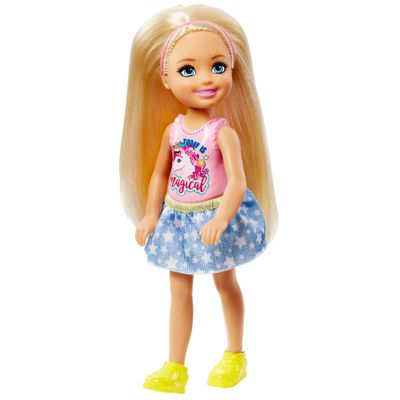 Mini-Boneca---Familia-da-Barbie---Chelsea-Club---Loira-Com-Saia-de-Estrela---Mattel