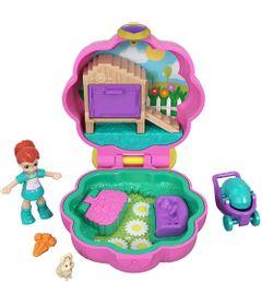 Playset-e-Boneca---Polly-Pocket---Estojo-Pequenos-Lugares---Concha-Carrinho-de-Passeio---Mattel