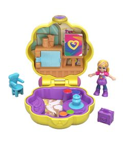 Playset-e-Boneca---Polly-Pocket---Estojo-Pequenos-Lugares---Concha-Estudio-de-Arte---Mattel