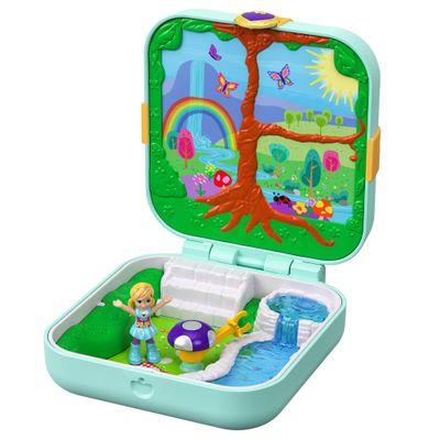 Playset-e-Boneca---Polly-Pocket---Maleta-Polly-no-Fundo-do-Mar---Floresta-Magica---Mattel