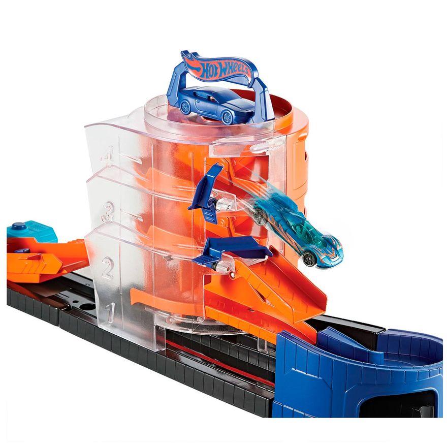 Pista-Hot-Wheels---Super-Giro-na-Loja-de-Carros---Mattel