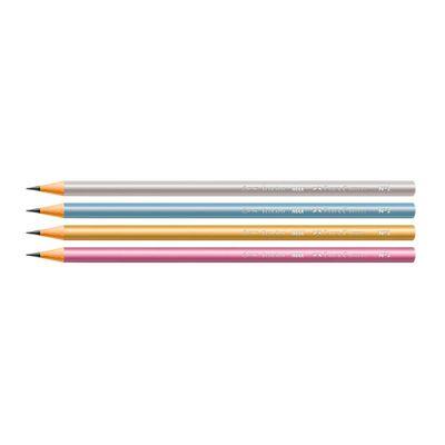 Lapis-Preto---Nº-2B---Ecolapis-Cores-Metalizadas-Sortidas---4-Unidades---Faber-Castell