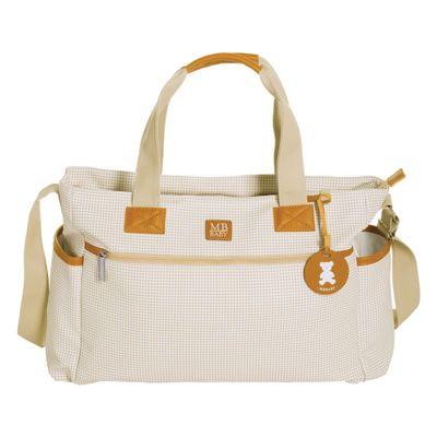 Bolsa-de-Maternidade---35x29x13Cm---Quadriculada---Marfim---MasterBag