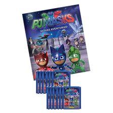 conjunto-com-1-album-brochura---12-envelopes-de-figurinhas-pj-masks-panini-630779106003_Frente