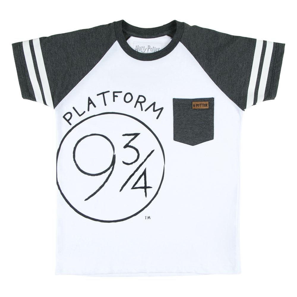 Camiseta Manga Curta - Algodão - Plataforma 9 3/4 - Branca - Harry Potter - Warner - 4