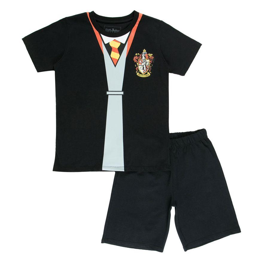 Conjunto-Blusa-e-Short---Algodao---Grofinoria---Preto---Harry-Potter---Warner