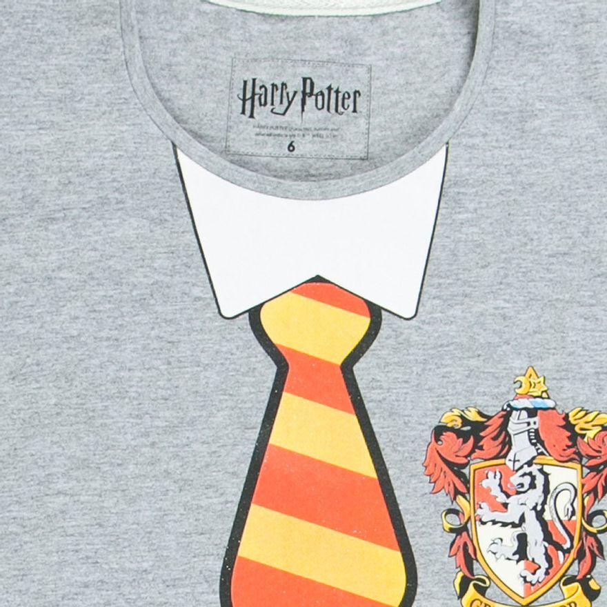 Conjunto-Blusa-e-Saia---Algodao---Grifinoria---Cinza-e-Preto---Harry-Potter---Warner