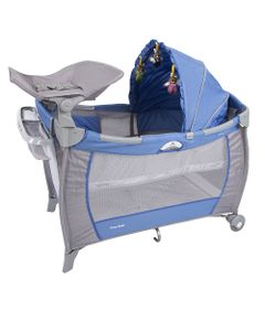 Berco-Portatil-de-Luxo-com-Trocador---Solis---Azul---Prime-Baby