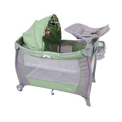 Berco-Portatil-de-Luxo-com-Trocador---Solis---Verde---Prime-Baby
