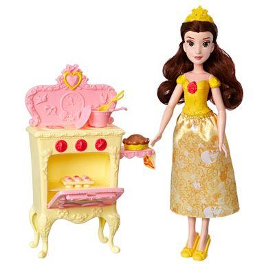 Boneca-Princesa-Disney---30-Cm---Bela---Com-Acessorios-para-Cenario---Hasbro