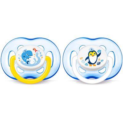 Chupeta-Freeflow-Dupla---Decorado-Azul---Mais-18-Meses---Philips-Avent