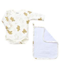 Kit-Presente---Body-e-Toalha---2-Pecas---Safari---Tilly-Baby---P
