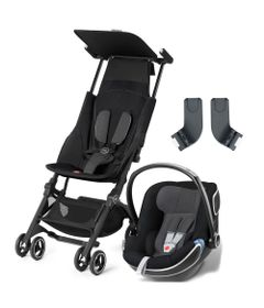 Travel-System-com-Adaptador---Pockit----Monument-Black---Idan-Monument---Cybex
