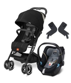 Travel-System-com-Adaptador---Qbit----Monument-Black---Graphite-Black---Cybex