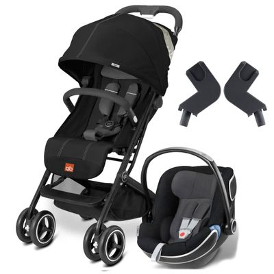 Travel-System-com-Adaptador---Qbit----Monument-Black---Idan-Monument---Cybex