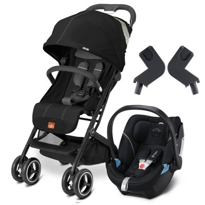 Travel-System-com-Adaptador---Qbit----Monument-Black---Lavastone-Black---Cybex
