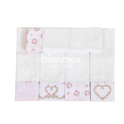 Conjunto-com-5-Fraldas-Cremer-Luxo---Barrado-e-Bordado---Tiffany-Floral-Rosa-Poa---Biramar
