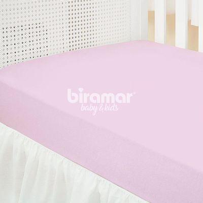 Lencol-para-Berco---1-Peca---Malha-Liso-Rosa---Biramar