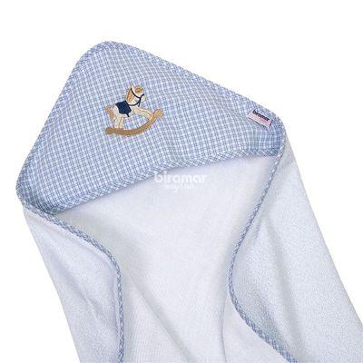 Toalha-de-Banho---Felpuda-Revestida-Estampa-Vies---Cavalinhos-de-Pau-Azul---Biramar