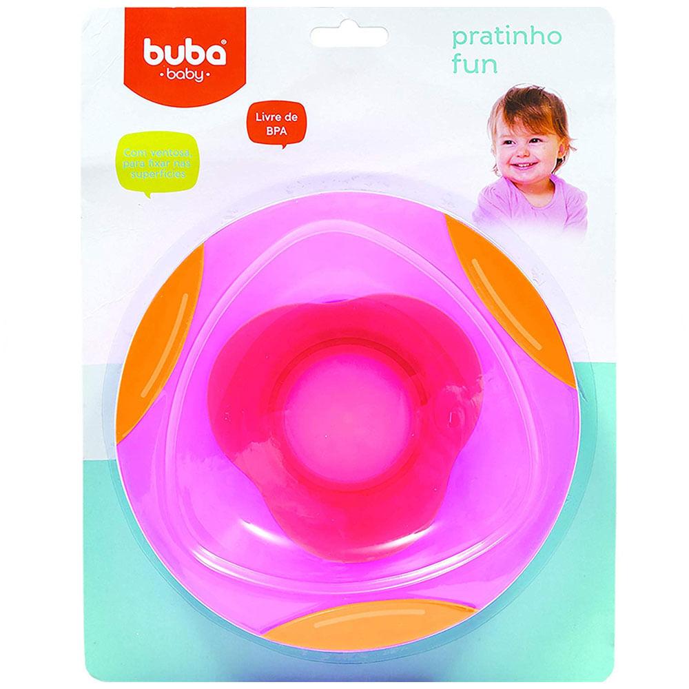 Prato Fun - Rosa - BPA Free - Buba