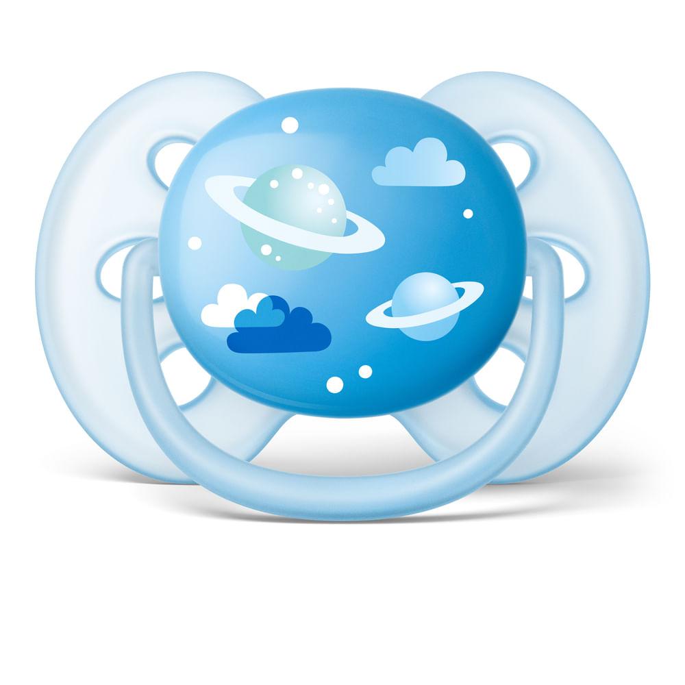 Chupeta Ultrasoft - Azul - Planeta - 6 a 18 Meses - Philips Avent