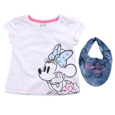 Blusa-Infantil---Manga-Curta---Minnie-Mouse---Branco---100--Algodao---Disney---2
